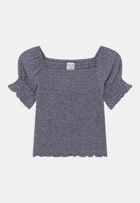 Abercrombie & Fitch - SMOCKED CORSET  - Blouse - dark blue - 0