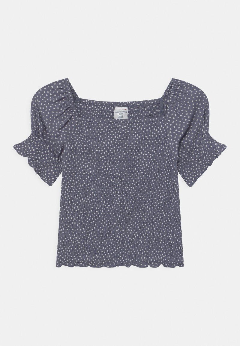 Abercrombie & Fitch - SMOCKED CORSET  - Blouse - dark blue