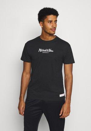 PINSCRIPT TEE - Print T-shirt - black