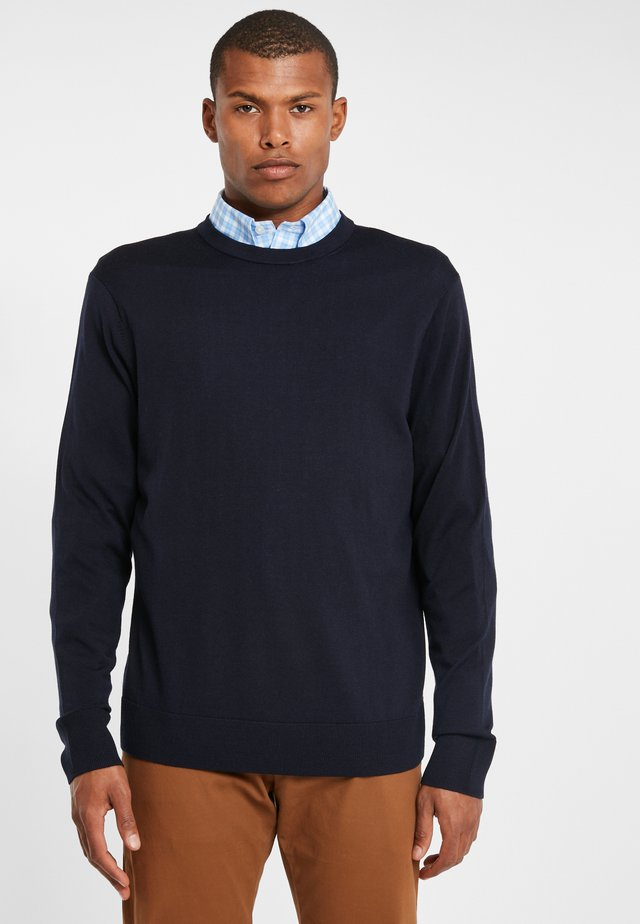EASY CARE MERINO SWEATER CREW NAVY - Jumper - navy