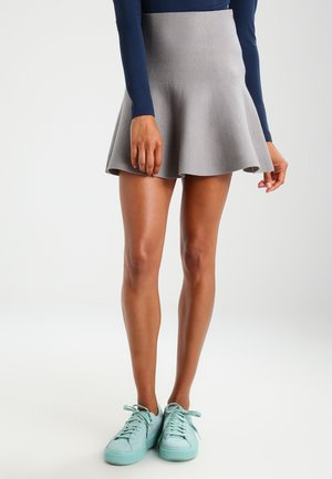 NMCIRUS - A-line skirt - medium grey melange