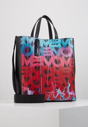 Handbag - black/poppy red