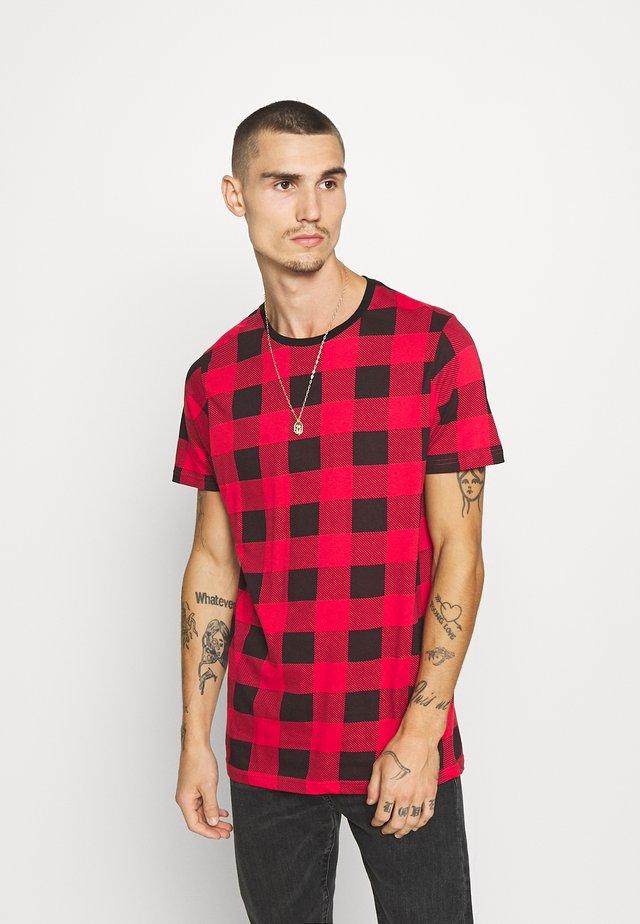 DERULO - T-shirt imprimé - red/black