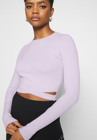 Hollister Co. - ULTRA CROP CUT OUT - Long sleeved top - orchid petal - 3