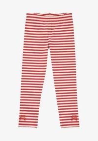 Steiff Collection - MIT STREIFEN UND SCHLEIFCHEN - Leggings - Trousers - cloud dancer - 0