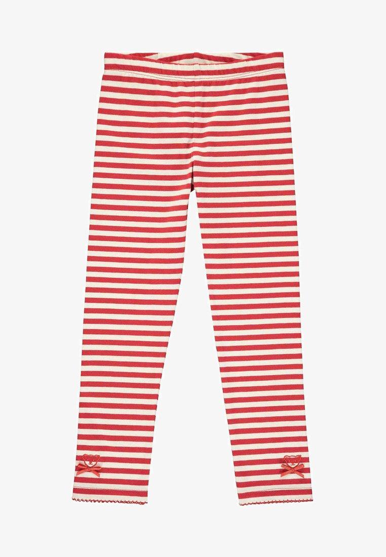 Steiff Collection - MIT STREIFEN UND SCHLEIFCHEN - Leggings - Trousers - cloud dancer
