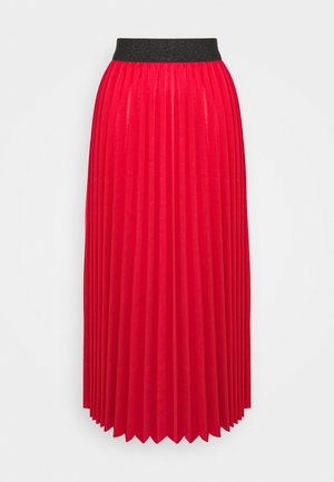 MONICA PLEATED SKIRT - A-line skirt - red