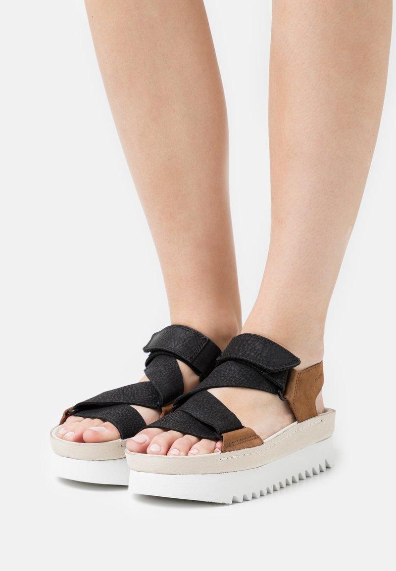 Clarks Originals - RANGER  - Platform sandals - brown
