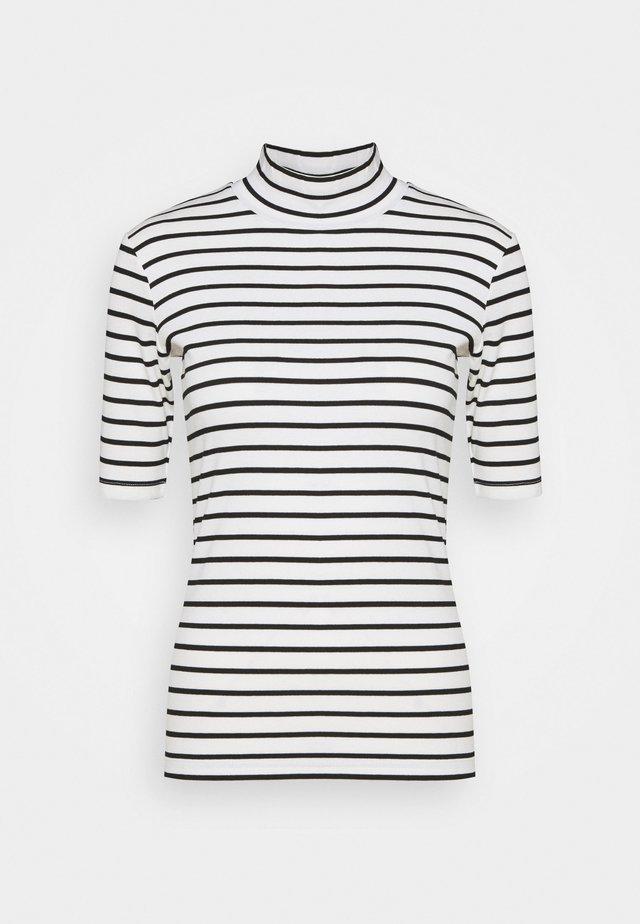 KAKAYLI LIDDY - T-shirt con stampa - black/chalk stripe