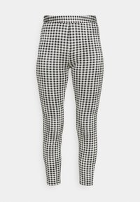 Gingham high waist legging - Leggings - Trousers - black/white