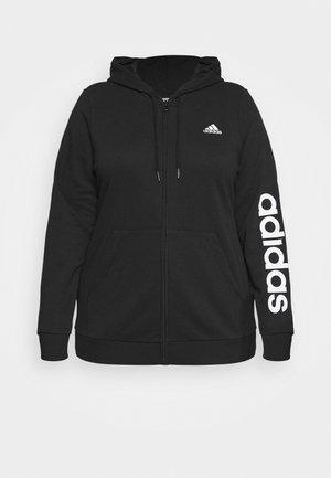 LINEAR FULL ZIP HD SPORTS ESSENTIALS TRACK TOP HOODIE - Zip-up sweatshirt - black/white