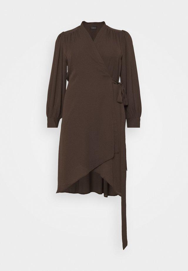 SLFLAVA WRAP DRESS  - Vestito estivo - coffee bean