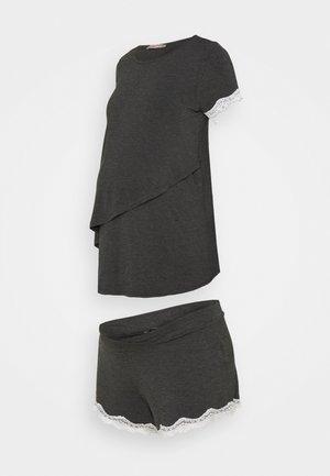 MATERNITY SHORT SET - Pyjama - dark grey