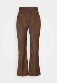Monki - WENDY TROUSERS - Trousers - brown - 0