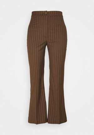 WENDY TROUSERS - Tygbyxor - brown