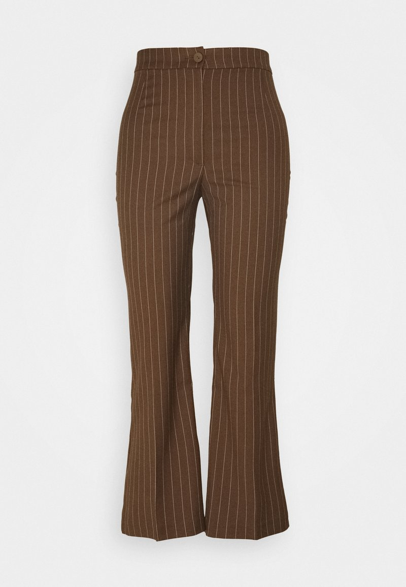Monki - WENDY TROUSERS - Trousers - brown