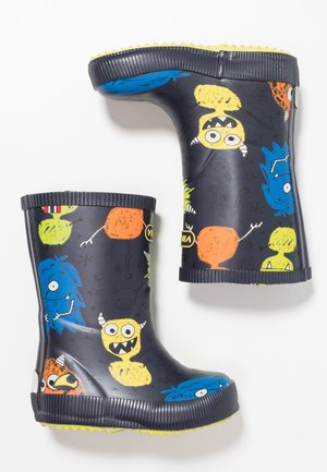 CLASSIC INDIE MONSTERS - Bottes en caoutchouc - navy/lime