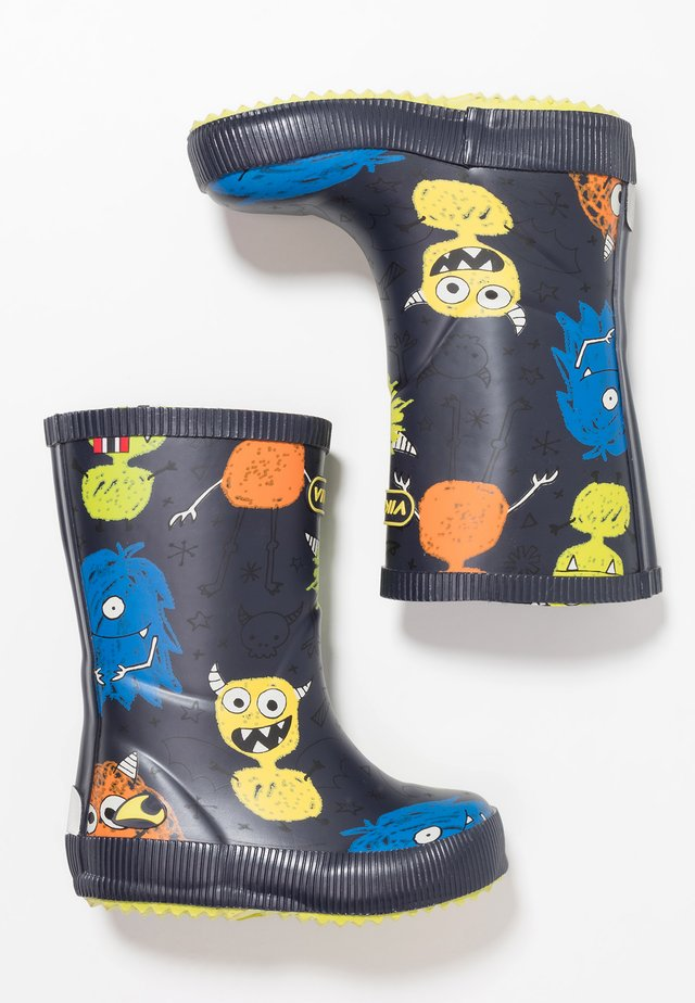 CLASSIC INDIE MONSTERS - Gummistiefel - navy/lime