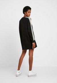Missguided - OVERSIZED SWEATER DRESS BLOCK - Vestito estivo - black - 3