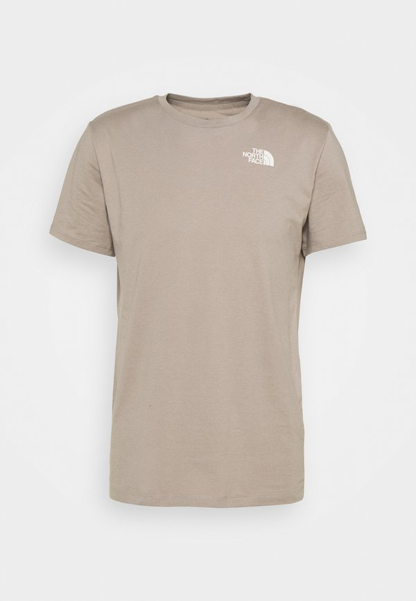 The North Face FOUNDATION GRAPHIC TEE - T-shirt z nadrukiem - mineral grey/jasnobrązowy Odzież Męska HOWA