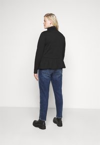 Pieces Curve - PCSERENE ROLL NECK - Long sleeved top - black - 2
