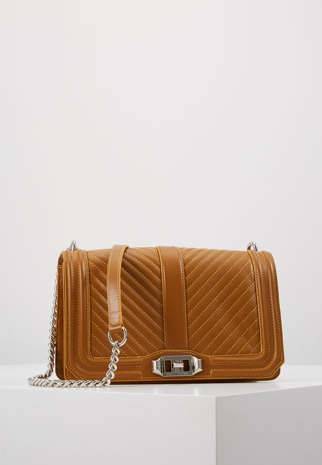LOVE CROSSBODY - Across body bag - nutmeg