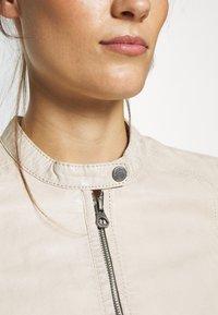 Gipsy - GGNIDEL LAMAS - Leather jacket - off white - 5
