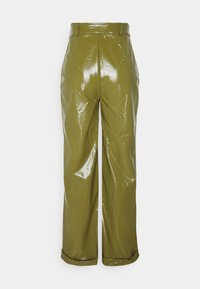 Missguided - TURN UP TROUSER - Trousers - olive - 1
