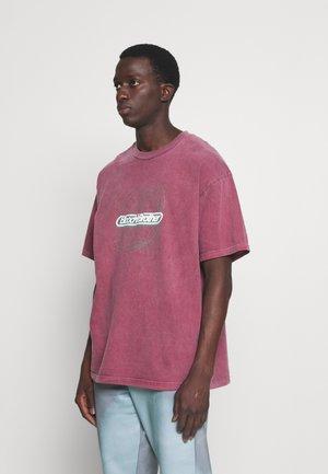 SOUND TEE UNISEX - T-shirt print - burgundy