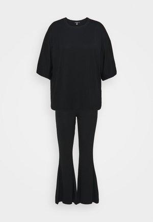 FLARE OVERSIZED SET - Pantalones - black