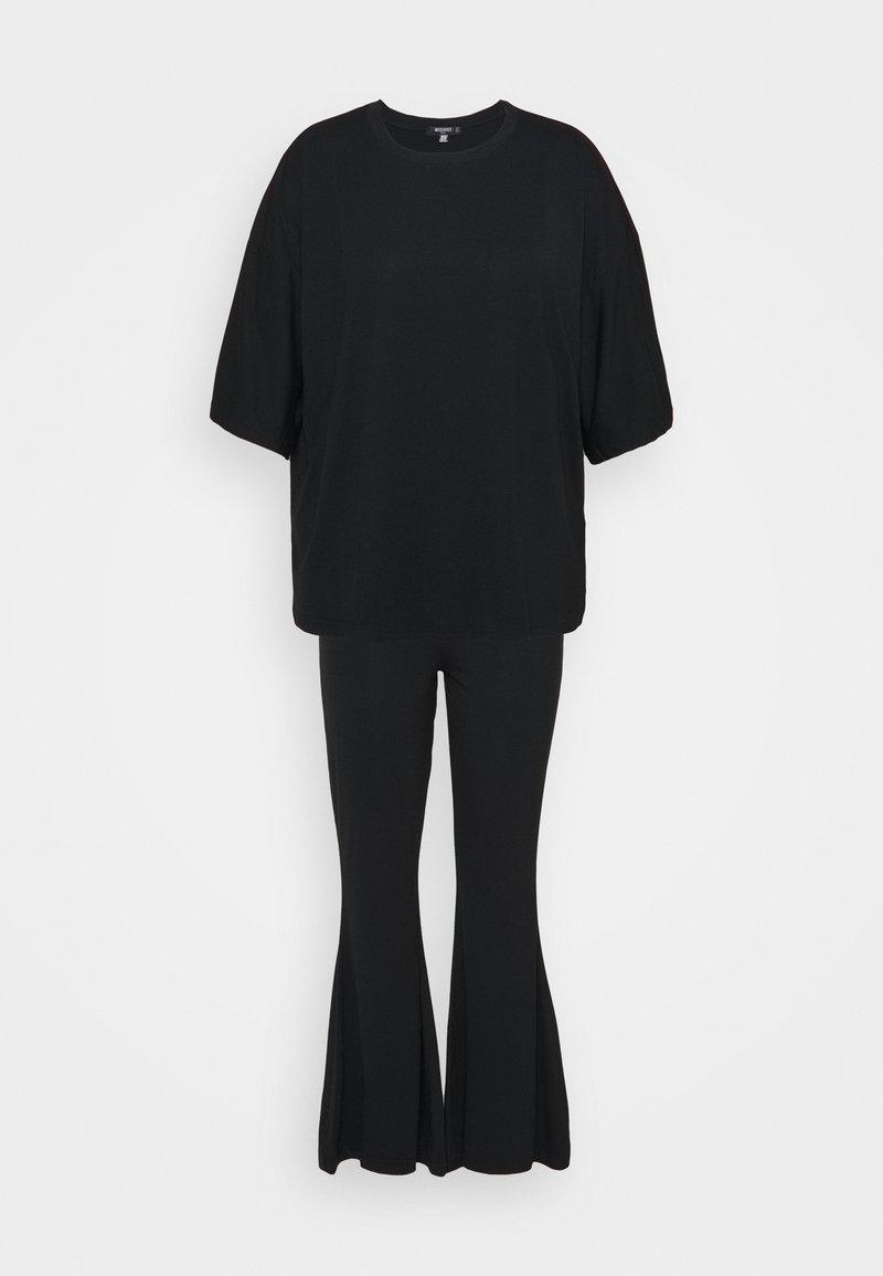 Missguided Plus - FLARE OVERSIZED SET - Pantalones - black