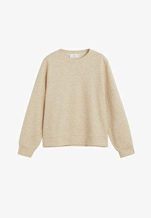 PIQUE - Sweater - sandfarben
