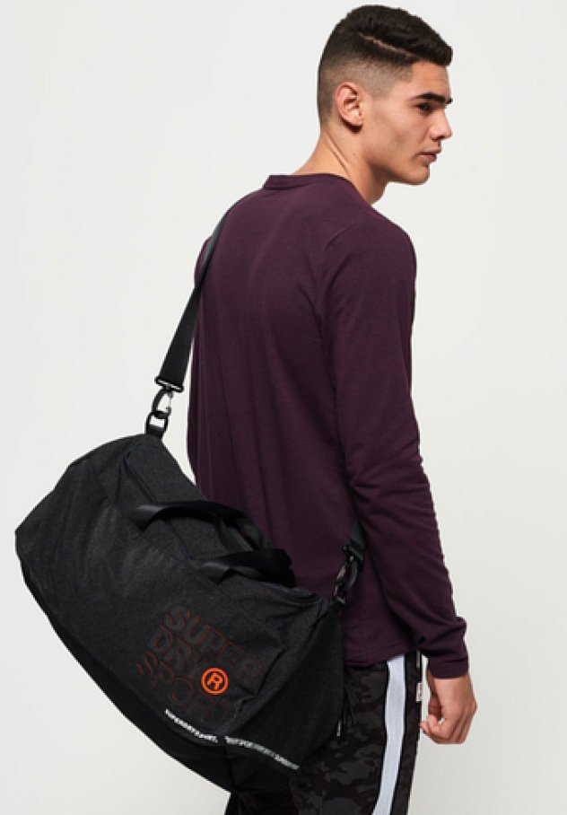 Superdry - Holdall - dark mottled/orange