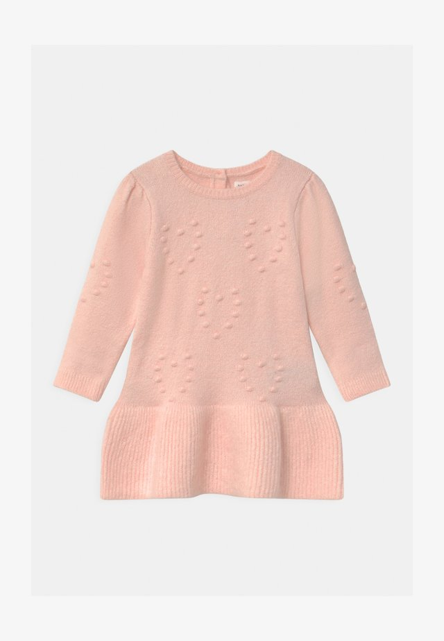HEART - Abito in maglia - milkshake pink