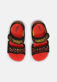 Skechers - HYPNO SPLASH - Sandals - black/red - 3