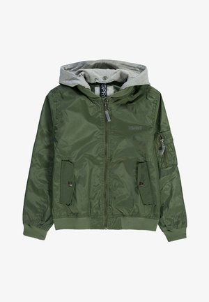 MIT SWEAT-KAPUZE - Bomberjacks - dark khaki