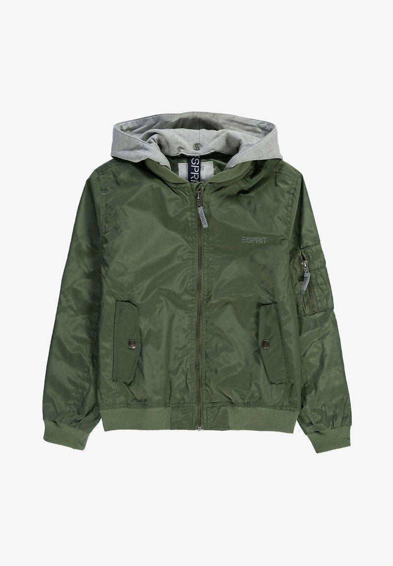 Esprit - MIT SWEAT-KAPUZE - Bomber Jacket - dark khaki