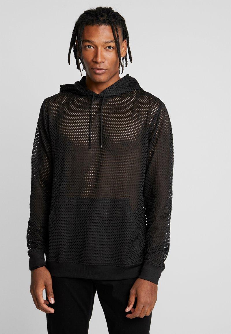 Weekday - KIT FACE HOODIE - Bluza z kapturem - black