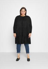 Glamorous Curve - Denní šaty - black cotton - 0
