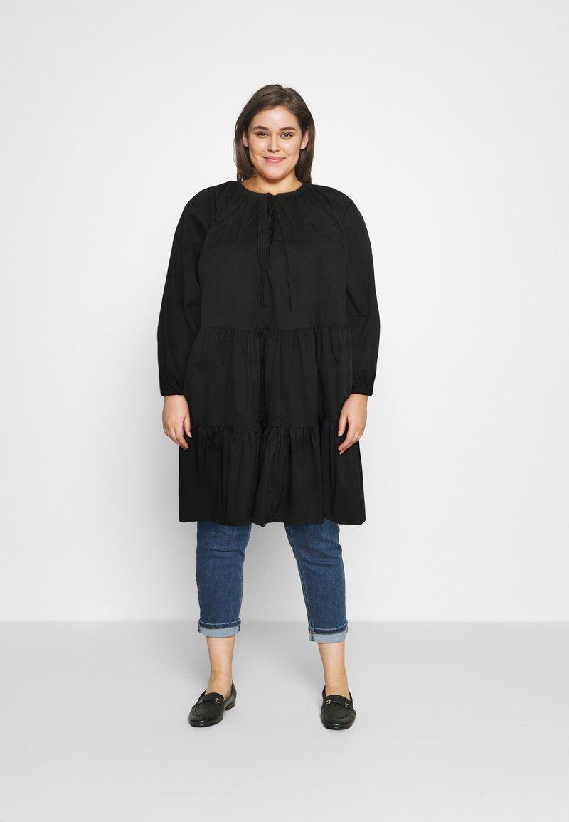 Glamorous Curve - Denní šaty - black cotton