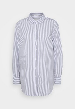 OVERSIZED COOL GIRL SHIRT - Button-down blouse - blue/white