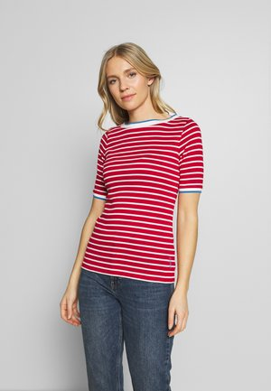 STRIPE TEE - T-shirts med print - dark red