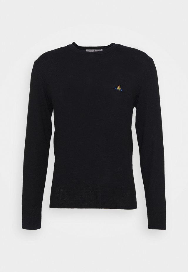 CLASSIC ROUND NECK - Pullover - black