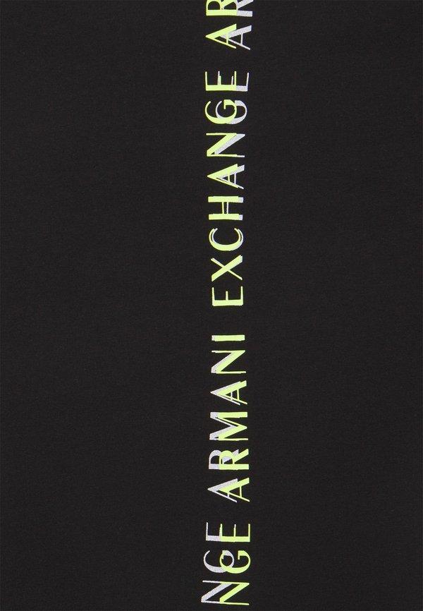 Armani Exchange T-shirt z nadrukiem - black/czarny Odzież Męska ISTQ