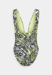 Calvin Klein Swimwear - PLUNGE ONE PIECE - Swimsuit - green - 7
