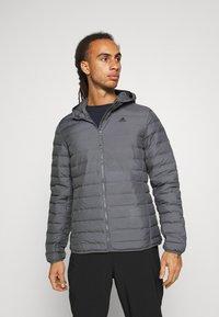 adidas Performance - VARILITE SOFT HOODED - Down jacket - dark grey - 0