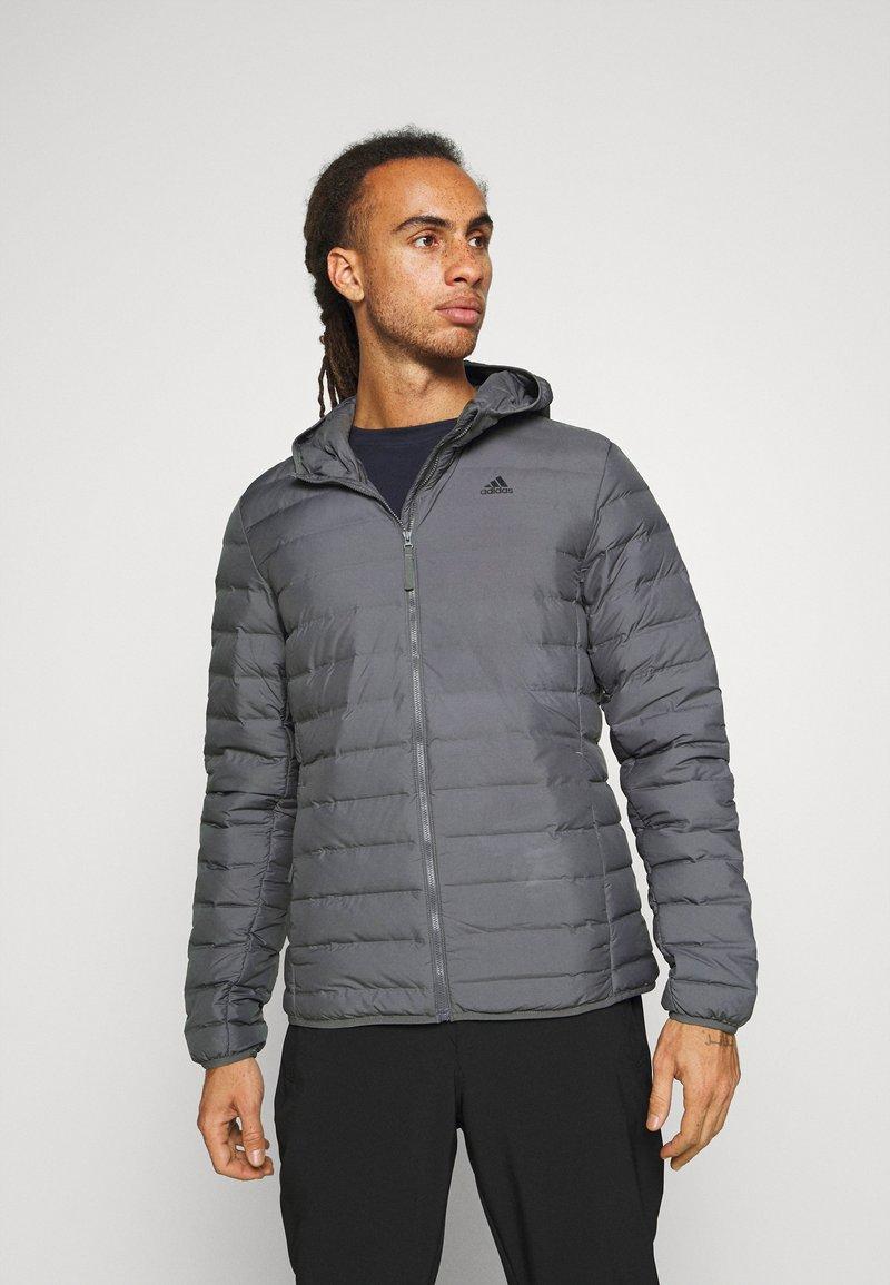 adidas Performance - VARILITE SOFT HOODED - Down jacket - dark grey