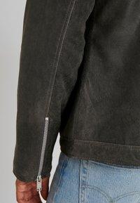 Lindbergh - BIKER JACKET - Leather jacket - grey - 3