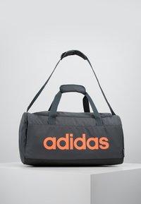 adidas Performance - ESSENTIALS LINEAR SPORT DUFFEL BAG UNISEX - Sportväska - grey six/black/silver grey core - 0