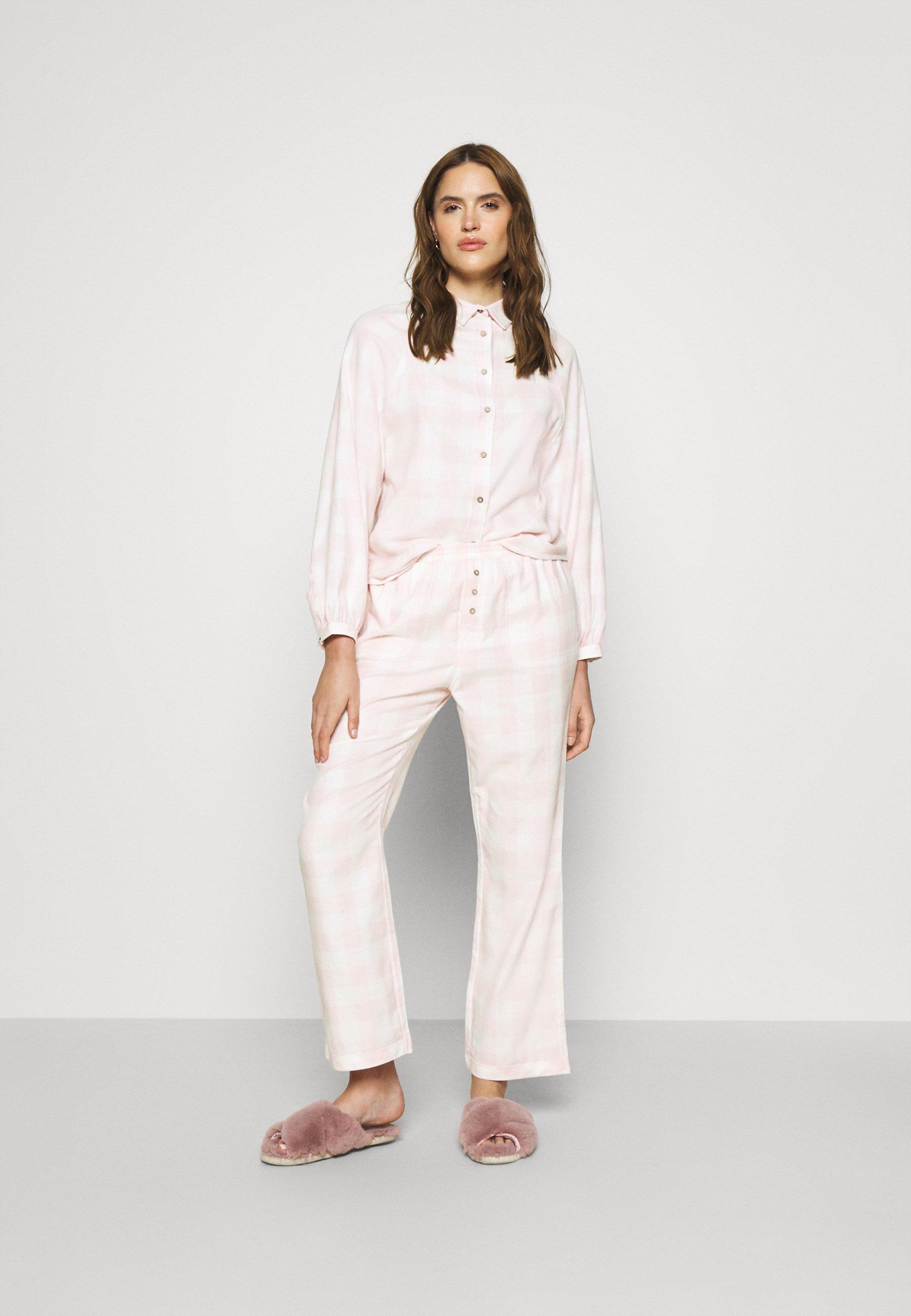 Damen WARM BED SHIRT AND PANT  - Pyjama